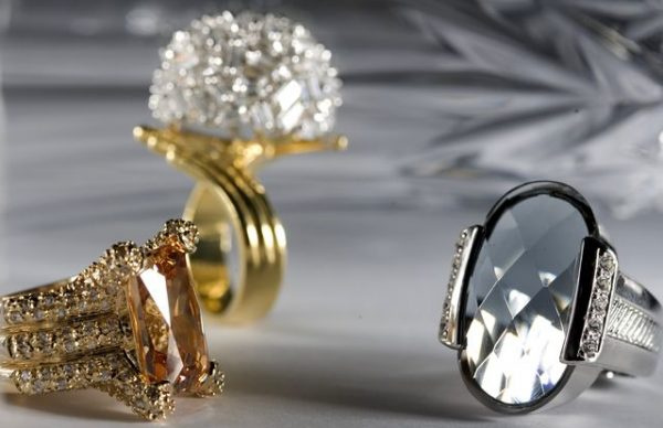 jewelry from white and yellow gold